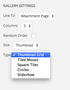 Tiled Gallery Options