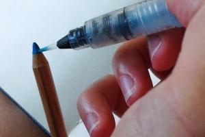 Pulling color off watercolor pencil