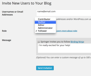Adding New Users to Your WordPress blog