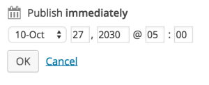 Publish posts in the future